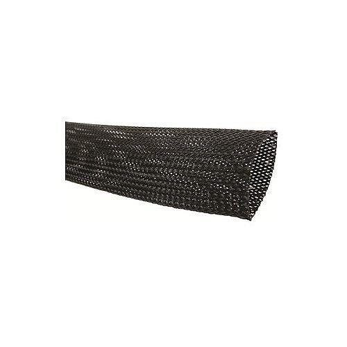 Black Braided Sleeving 28-47mm 25mm Reel