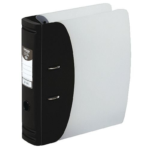 Hermes Lever Arch File Heavy Duty A4 78mm Capacity Black 832001