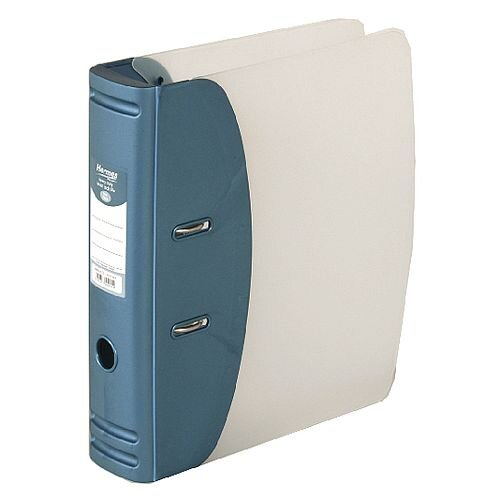 Hermes Lever Arch File Heavy Duty A4 78mm Capacity Metallic Blue – 2 Rings, 78m  Spine, 500 Page Capacity, Spine Label, Finger Pull Ring &Eco-Friendly (832007)