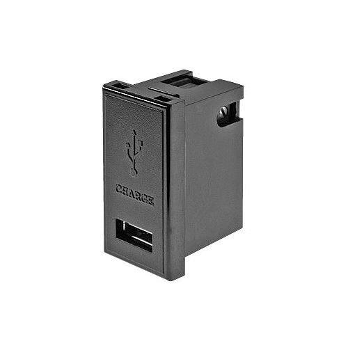 1 amp Black Single USB Charger