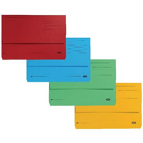 Elba Strongline FC Document Wallets Assorted PK10 400099327