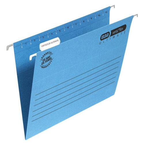 Elba Suspension File Manilla Foolscap Blue Pack of 25 100331168