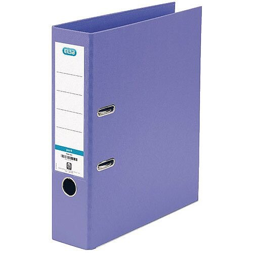 Elba PVC A4 70mm Purple Lever Arch File 100202167