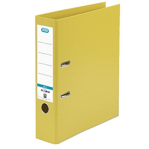 Elba Yellow A4 Plastic Lever Arch File 70mm 100080901