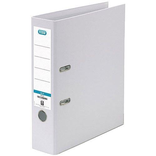Elba White A4 Plastic Lever Arch File 70mm 100080902
