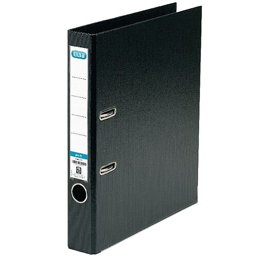 Elba A4 Black 50mm Plastic Lever Arch File 100080910
