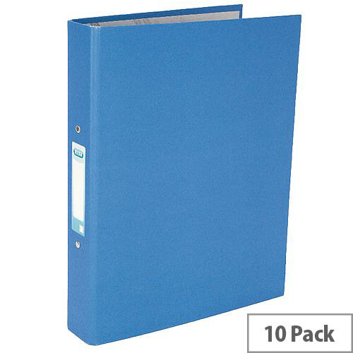 Elba A4 Blue 25mm Paper Over Board Ring Binder Pack of 10 400033496