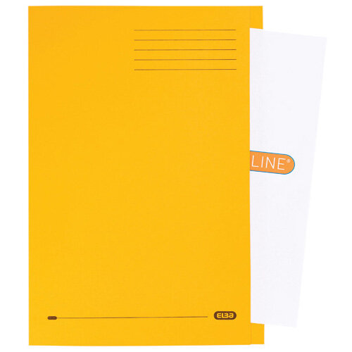 Elba Strongline Square Cut Folder Man FC Yellow Pack of 50 100090023