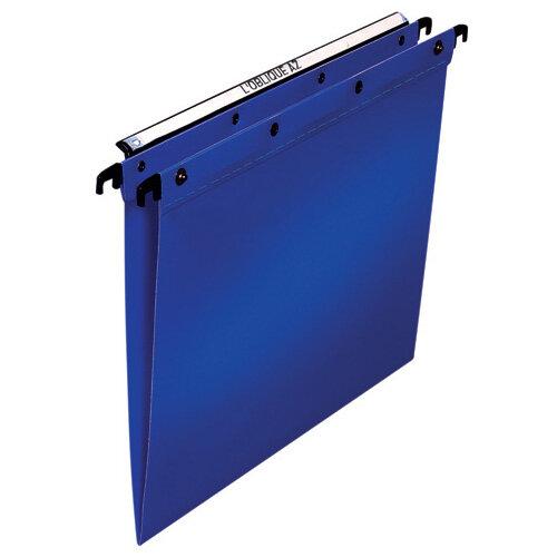 Elba Suspension File PP Foolscap Blue Pack of 25 100330370