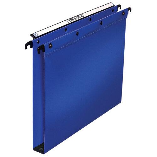 Elba Suspension File PP 30mm Foolscap Blue Pack of 25 100330371