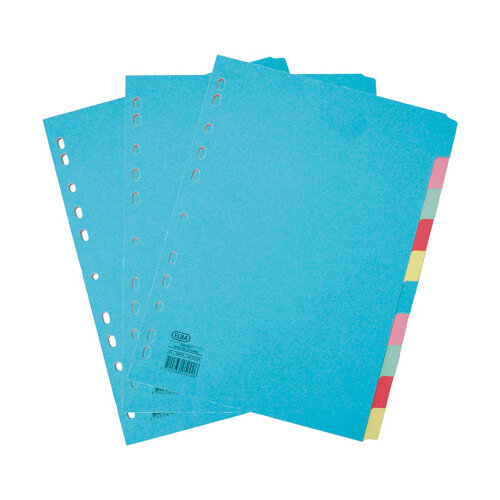 Elba 10 Part Card Dividers A4 3FOR2 (Pack of 2 + 1)  BX810430