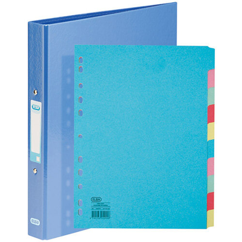 Elba Classy Ring Binder Metallic Blue FOC 10 Part Divider