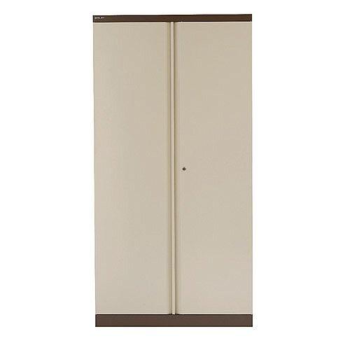 Bisley 2 Door Cupboard W914xD457xH1806mm Coffee Cream BY13990