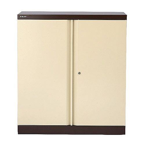 Bisley 2 Door Cupboard W914xD457xH1016mm Coffee Cream BY13997