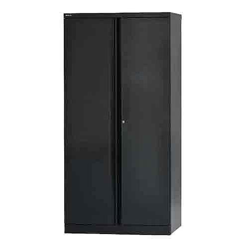 Bisley 2 Door Cupboard W914xD457xH1968mm Black BY33788