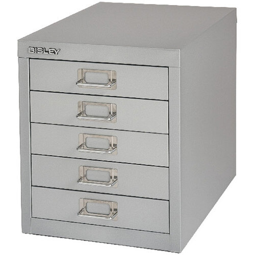 Bisley Non-Locking Multi-Drawer Cabinet 5 Drawer Grey BY42267