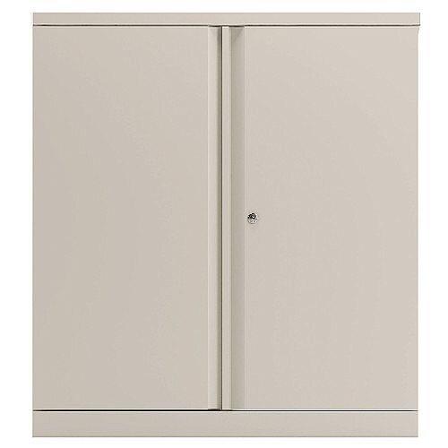 Bisley 2 Door Cupboard Chalk White 1016mm Empty KF78710