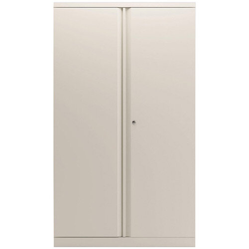 Bisley 2 Door Cupboard Chalk White 1585mm Empty KF78713