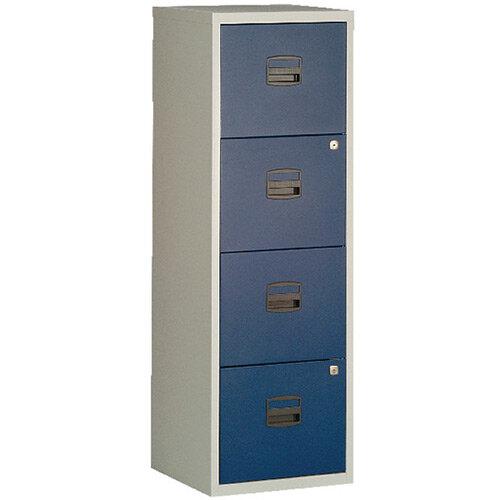 Bisley A4 Homefiler 4 Drawer Grey Blue BY78729