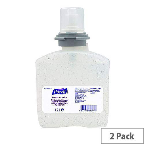 Purell Hygienic Hand Sanitizer Refills for TFX Dispenser 1200ml Pack of 2 #PSR