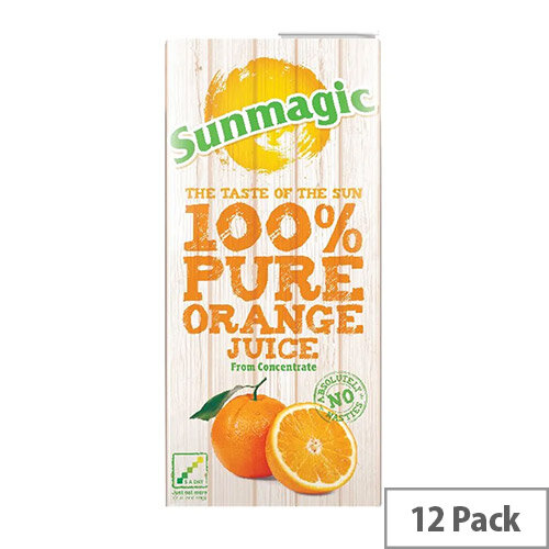 Pure Orange Juice Drink From Concentrate 1 Litre Cartons Pack 12