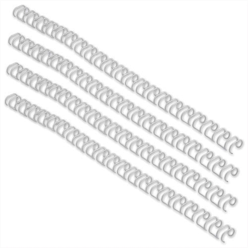 GBC Binding Wires 21 Loop 70 Sheets 8mm White (Pack of 100)