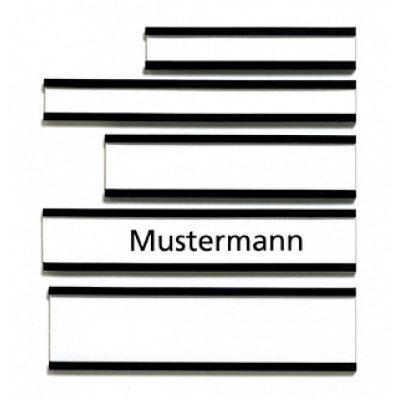 Franken Magnetic Name Plates 60 x 15mm Brown Pack of 10 C125