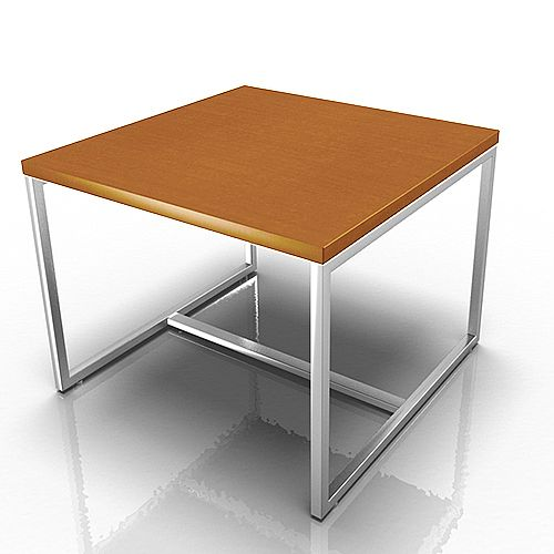 Square Reception Coffee Table Walnut