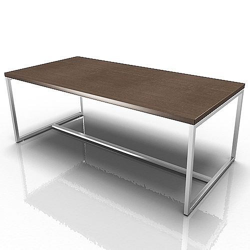 Rectangular Reception Coffee Table Canaletto Walnut Huntoffice