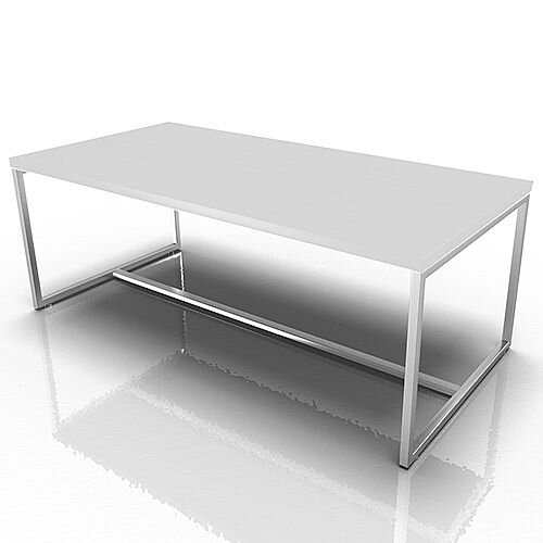 Rectangular Reception Coffee Table White