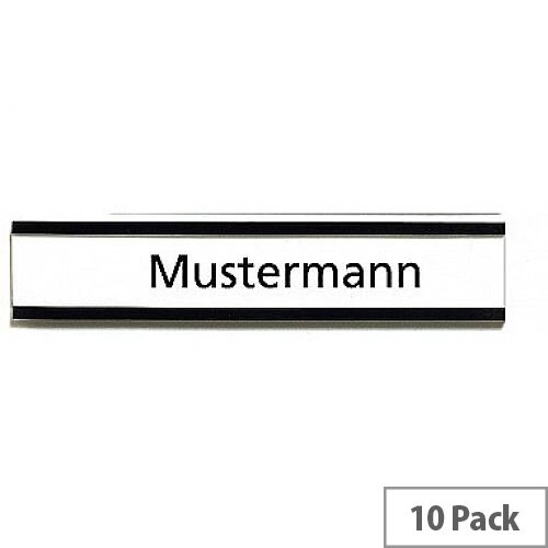 Franken Magnetic Name Plates 75 x 30mm Brown Pack of 10 C165