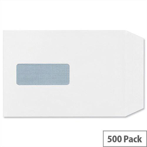 Plus Fabric C5 White 110gsm Envelopes Pocket Self Seal Window Pack 500