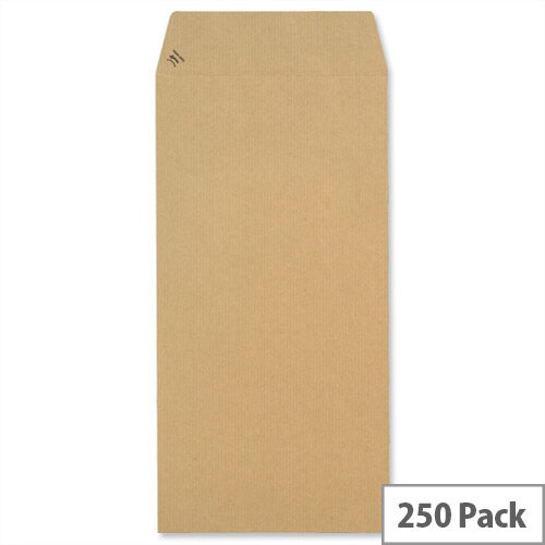 New Guardian Envelopes 305x127mm 130gsm Manilla Peel and Seal Easy Open Manilla Pack of 250