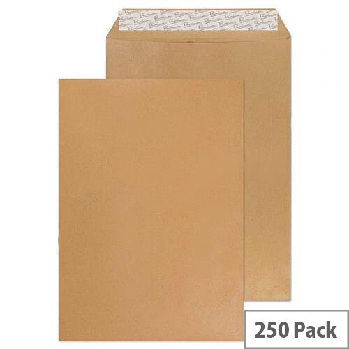 Q Connect Envelope C4 80gsm Manilla Gummed (Pack of 250)