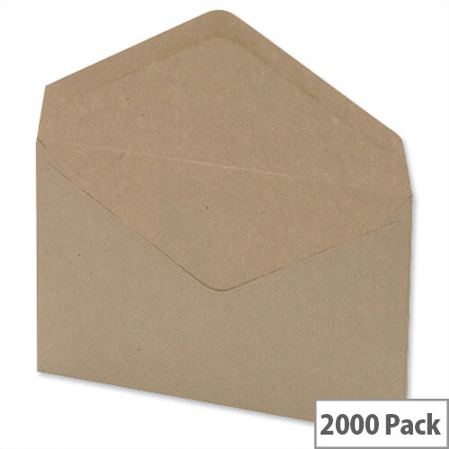 C6 Envelopes Manilla Wallet (Pack of 2000)