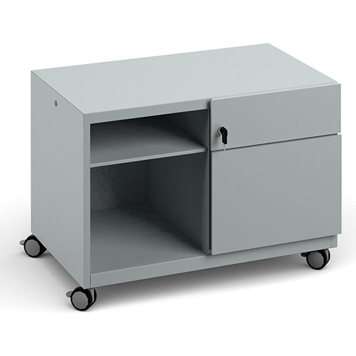 Bisley Steel Caddy Right Hand Storage Unit 800mm - Silver