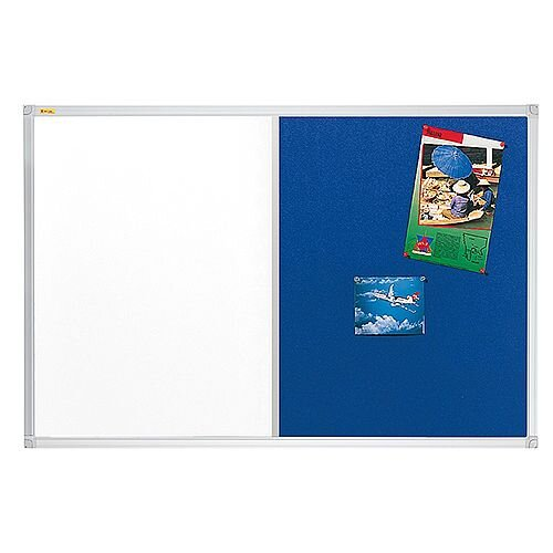 Franken ValueLine Magnetic Combination Board Lacquered/Blue Felt Surface 900x600mm CB300203