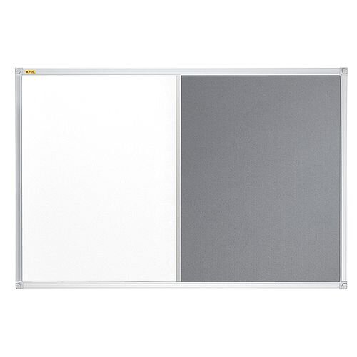 Franken ValueLine Magnetic Combination Board Lacquered/Grey Felt Surface 600x450mm CB301212