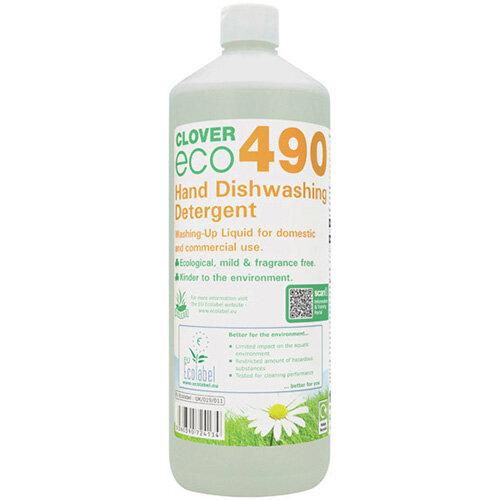 Clover ECO 490 Dishwashing Detergent 1 Litre Pack of 12 490