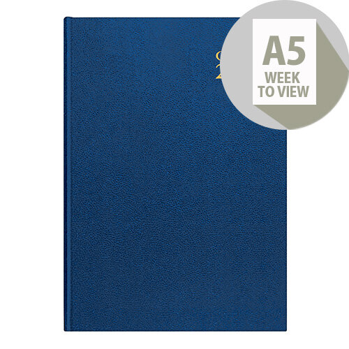 Collins A5 Desk Diary Week to View 2020 Blue 35