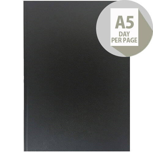 Collins A5 Desk Diary Day Per Page 2020 Black 52