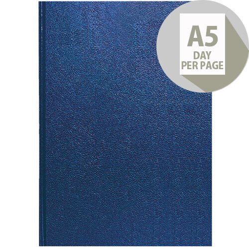 Collins A5 Desk Diary Day Per Page 2020 Blue 52