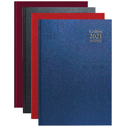 Collins 2021 A4 Appointment Desk Diary Day Per Page Assorted A44