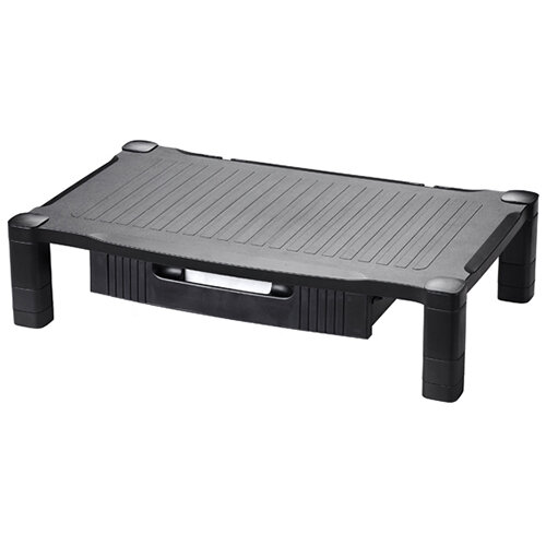 Contour Ergonomics Extra Wide Monitor Stand Drawer Black CE04691