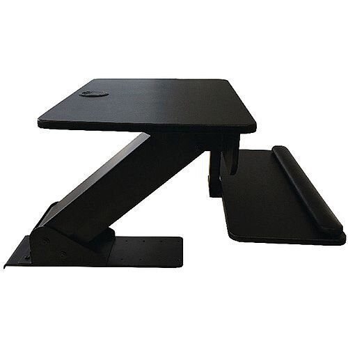 Contour Ergonomics Sit Stand Workstation Black. Easily Transform Your Work Life &Reap The Health Rewards From This Work Station. Improves Posture, Health, Helps Prevention Of Heart Disease &Cardiovascular Disease.
