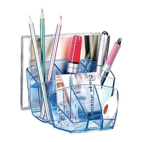 CEP Ice Blue Desk Tidy Organiser