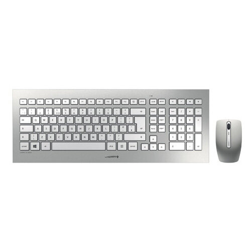 CHERRY DW 8000 Ultra Flat Wireless Keyboard/Mouse Set Silver JD-0310GB