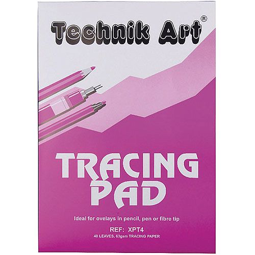 Technik Art Tracing Pad A4 63gsm 40 Sheets XPT4