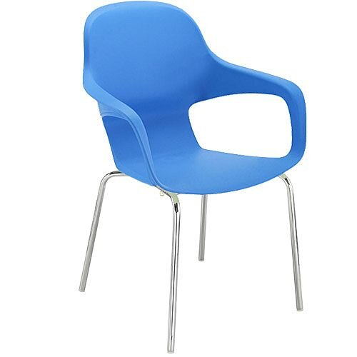 Ariel 2 Canteen &Breakout Chrome Leg Chair Blue