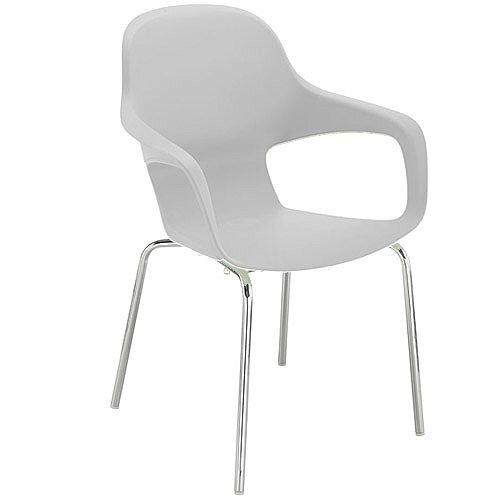 Ariel 2 Canteen &Breakout Chrome Leg Chair White